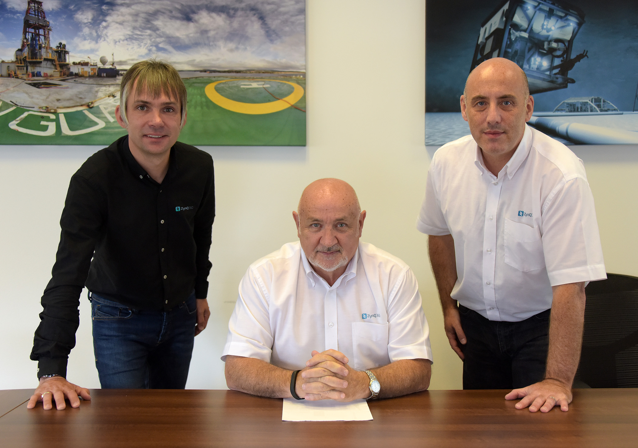 Image of the three ZynQ 360 directors. From left; Aly Gray - Operations Director, Brian Dillon - Managing Director, Brian Milne - Technical Director